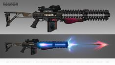 ArtStation - Last Sketches 2017 part John Grello Cosplay Weapons, Sci Fi Weapons, Weapon Concept Art, Fantasy Weapons, Weapons Guns, Guns And Ammo, Sci Fi Fantasy, Future Weapons, War Machine