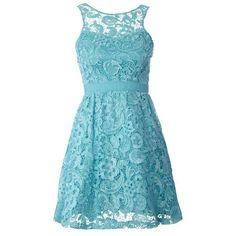 Pale blue lace dress...bridesmaids maybe?
