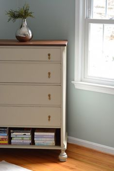 Beautiful Dresser Makeover With Shabby Paints from Thrift Diving Blog_4716