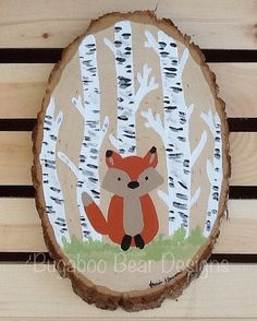 Inspiration | These wood slices would be great with woodland animals sillouettes painted on them