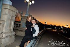 Pasadena City Hall & Colorado Bridge Engagement Photography (Joseph + Brenda)