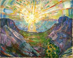 Edvard Munch The Sun 1 painting for sale, this painting is available as handmade reproduction. Shop for Edvard Munch The Sun 1 painting and frame at a discount of off. Sun Painting, Painting Prints, Art Prints, Monet, Edward Munch, Art Gallery Of Ontario, Amedeo Modigliani, Kandinsky, Famous Artists