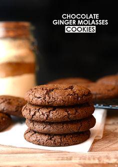 Gluten-free chocolate ginger molasses cookies