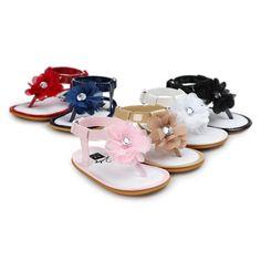 newborn baby summer flower shoes Free shipping blue baby girls sandals infantil bebe toddler girl shoes sol for 0~18M TX40 #Affiliate