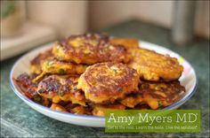 Easy, healthy and delicious Spinach & Kale Sweet Potato Cakes recipe!  #themyersway #paleo