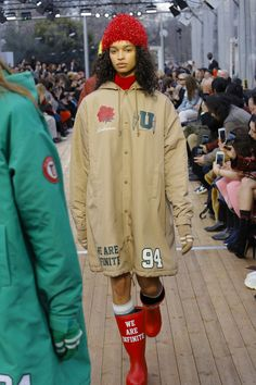 Undercover Fall 2018 Ready-to-Wear Collection - Vogue Long Hooded Coat, Autumn Fashion 2018, Undercover, Fall 2018, Canada Goose Jackets, Fashion Show, Fashion Brands, Ready To Wear, Fall Winter
