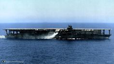 This is the Japanese aircraft carrier Kaga, completed in 1928. She was lost at the battle of Midway in 1942.
