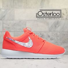Bling Coral Nike Roshe ✨Brand New Bling Swarovski Nike Roshe in Original Box! ✅Each pair of shoe has $45 worth of Swarovski Crystals in multiple sizes applied to the Outside Nike check to ensure maximum brilliance. All crystals are hand placed with high strength glue to ensure they will not come off. ✅Shoes are Brand New in their Original Box and purchased from a verified Nike retailer. ✅Crystals are 100% authentic Swarovski Crystals and purchased from a verified Swarovski dealer. ✅Fit: Runs…