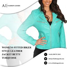 A1 FASHION GOODS Womens Designer Leather Biker Jacket Soft Brown Fitted Quilted Zip Fasten Coat Bonita