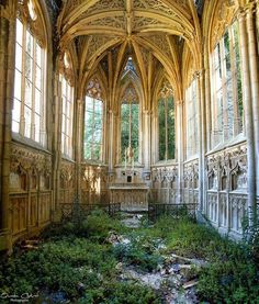 "magic-of-eternity: ""  Abandoned Chapel in France. Photograph Quentin Chabrot """
