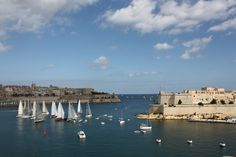 A panoramic view of the natural Grand Harbour Views in Malta is seen at the balcony of Villa Wedéna.\