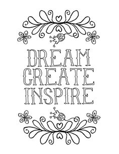 Creative Inspirational Coloring Page