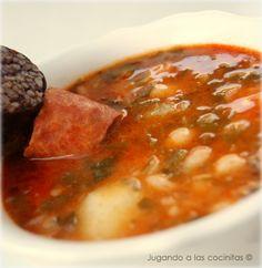 Receta de COCIDO MONTAÑÉS    http://jugandoalascocinitas-silvia.blogspot.com.es/2012/12/cocido-montanes-version-express.html