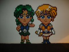 Sailor Neptune and Sailor Uranus perler beads by anyeshouse on deviantart
