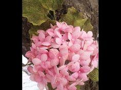 (23) İpek Kozası ile Ortanca Yapımı - Dekoratif Çiçek - YouTube