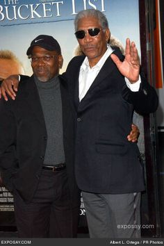 Morgan Freeman and his son, Alfonso...from a relationship with Loletha. He also had another child, Saifoulaye, from another relationship.