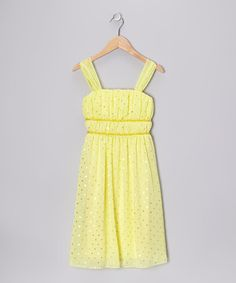 Take a look at this Lemon Yellow Sequin Dress - Girls by Speechless on #zulily today!