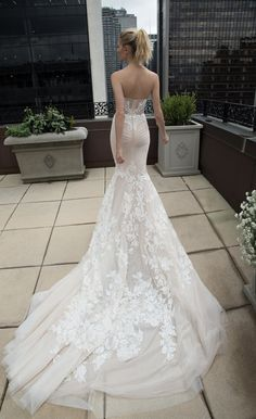BR-16-17 by Inbal Dror, Sexy Mermaid Wedding Dress Speicalize in the Back