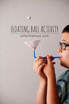 Pustespiel basteln - Wessen Ball berührt als letztes den Boden?