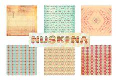 digital scrapbook background por nuskina en Etsy