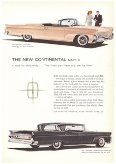 1958 Lincoln Continental AdPretty sure that's a Mercury Monteray on the bottom there.  Like I used to have.