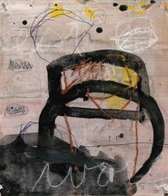 """M P Landis, """"Wd 4585"""", mixed media on folded paper"""
