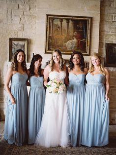 Pale blue bridesmaids dresses. Chase and Justin Wedding – Cal-a-Vie