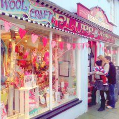 The Gilliangladrag Fluff-a-torium in Dorking Surrey Craft Shop - Workshops Sewing Yarn Store, Toy Store, Craft Shop, Craft Stores, Haberdashery Shop, Wool Shop, Curiosity Shop, Store Windows, Shop Fronts