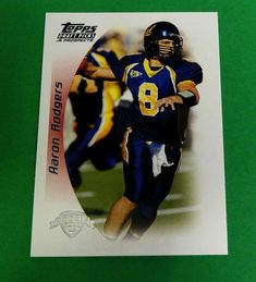 9ed4bc4f8 2005 05 Topps Draft Picks Prospects Aaron Rodgers Rookie Green Bay Packers  NFL  greenbaypackers Green