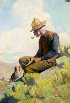 Sheep Herder, New Mexico painting by William Herbert Dunton at Eiteljorg Museum. Indianapolis, IN.
