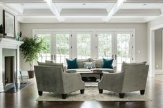 New Construction - traditional - Living Room - New York - Dubinett Architects, llc.