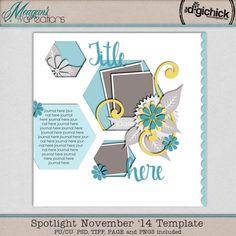 November '14 Spotlight Template Freebie