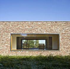 Hombroich Pavilion, #Germany by Rudolf Finsterwalder and Alvaro Siza #architecture #brick
