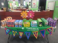 Girl Scout Cookie Booth! - Add pendants with price, OCD, etc Cute cookie booth ideas.