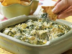 Enjoy your favorite dip recipes, now with considerably less fat and calories! We still like to splurge on the full-fat versions sometimes, sure — but once you taste these lighter recipes, you may not see a reason to!