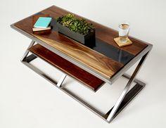 MiterZ Coffee Table Modern Industrial Furniture Collection CAUV Design Custom Furniture