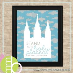 Stand Ye in Holy Places Free Printable   Mormon Mommy Printables