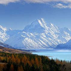 Looking Over to Mt Cook, Otago, South Island, New Zealand