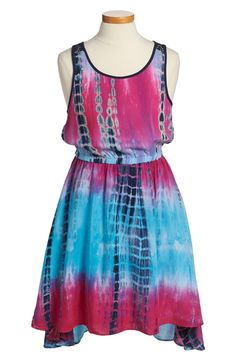 Tie Dye High/Low Dress (Big Girls)