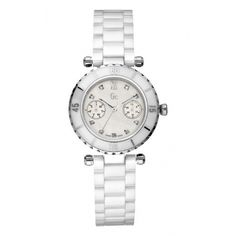 Montre GC (Guess Collection) I46003L1 - mixte/ homme/ femme  - marque : GC Retrouvez les meilleures montres GC: Montre GC (Guess Collection) I46003L1 - mixte/ homme/ femme Diver chic Multifonction ceramique blanche avec 9 diamants autour    Type : Montre ... prix : 599.00 €  chez Bijourama #GC #Bijourama