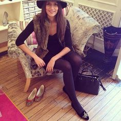 You may recognise @Jo_Renwick from our current AW13 campaign imagery she came in to collect her bespoke monogram smoking slippers this after...