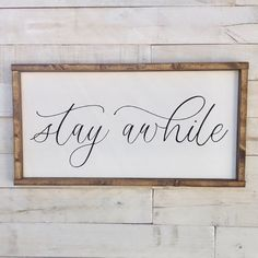 Stay Awhile Framed Canvas, Stay Awhile Sign, Welcome Sign, Framed Canvas Sign, Canvas Stay Awhile Sign Item details: Farm House Living Room, Frames For Canvas Paintings, Framed Canvas Sign, Canvas Frame, Handmade Home, Home Decor, Bathroom Inspiration Decor, Home Decor Signs, Canvas Signs