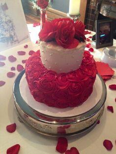 Ruby Anniversary Cake 40th Anniversary Cakes, Wedding Anniversary Cakes, Parents Anniversary, Anniversary Ideas, Anniversary Parties, Ruby Wedding Cake, Wedding Cakes, 40th Cake, Birthday Cake