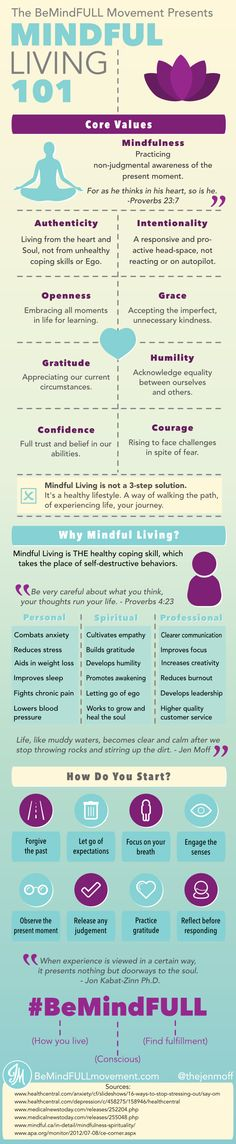 Mindful Living 101 • Mindfulness and its Core Values and Benefits. Worth a glance!