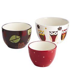 Owl Prep Bowls - Set of 3 - pier one