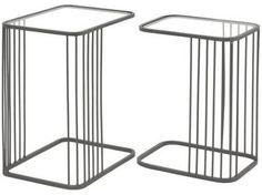FUTURIS GREY SET OF 2 NESTING TABLES