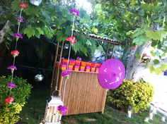 Thai Styled Party #Thailand #vbs #vbs2015 #vbsdecorations #vacationbibleschool #Thaiinspired #bamboocounter #tropicaldecorations