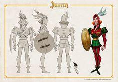 Escasísimo material de desarrollo de Sota, cabecilla del trío de villanos de Justin y la Espada del Valor. Y el render final, con m...