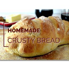 Crusty Bread Recipe 2019 This no-knead homemade bread recipe uses just three ingredients plus water. Make a loaf of this simple bread in your own kitchen and amaze your friends and family! The post Crusty Bread Recipe 2019 appeared first on Rolls Diy. Artisan Bread Recipes, Yeast Bread Recipes, Bread Machine Recipes, Brewers Yeast Bread Recipe, No Yeast Bread, Cornbread Recipes, Jiffy Cornbread, No Knead Bread, Bread Recipe Video
