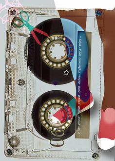 """TAPE"", Digital Illustration by Aphrodite Ioannou Different Media, Photography Portfolio, Aphrodite, Digital Illustration, Tape, Mixed Media, Digital Art, Illustrations, Artwork"
